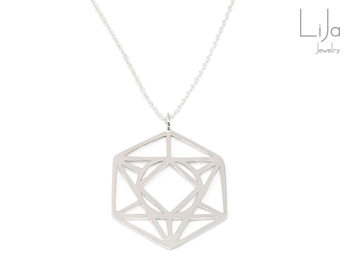 Goudsmid LiJa Jewelry logo sieraad zilver ketting hanger smal