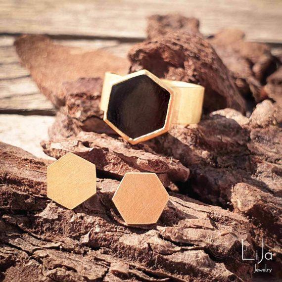 Goudsmid-LiJa-Jewelry-oorbellen-en-ring-hexagoon-6hoek