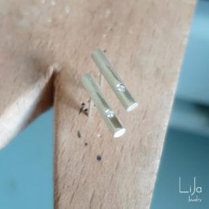 LiJa Jewelry goudsmid werkbank oorbellen zilver