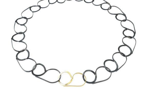 Goudsmid Lija Jewelry Collier Geoxideerd Zilver Zwart Goud Cover