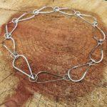 Goudsmid Lija Jewelry Collier Zilver Geelgoud Schakel Abstract