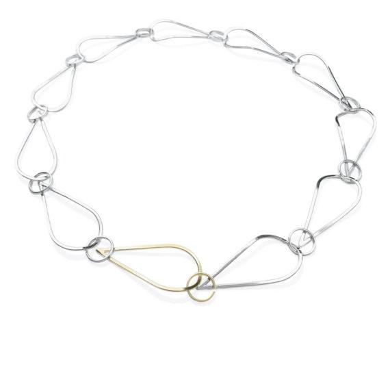 Goudsmid Lija Jewelry Collier Zilver Geelgoud Schakel Modern Cover