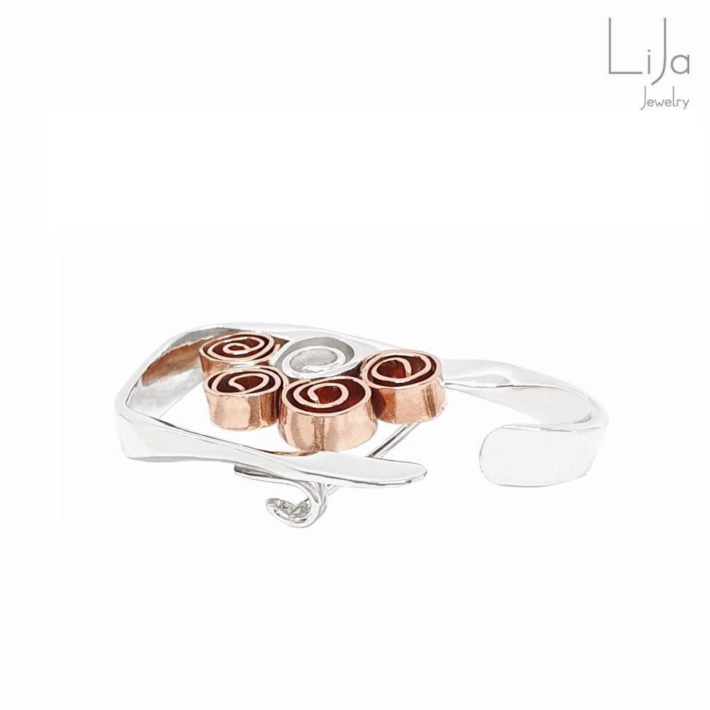 Goudsmid Lija Jewelry Broche Roosjes Zilver