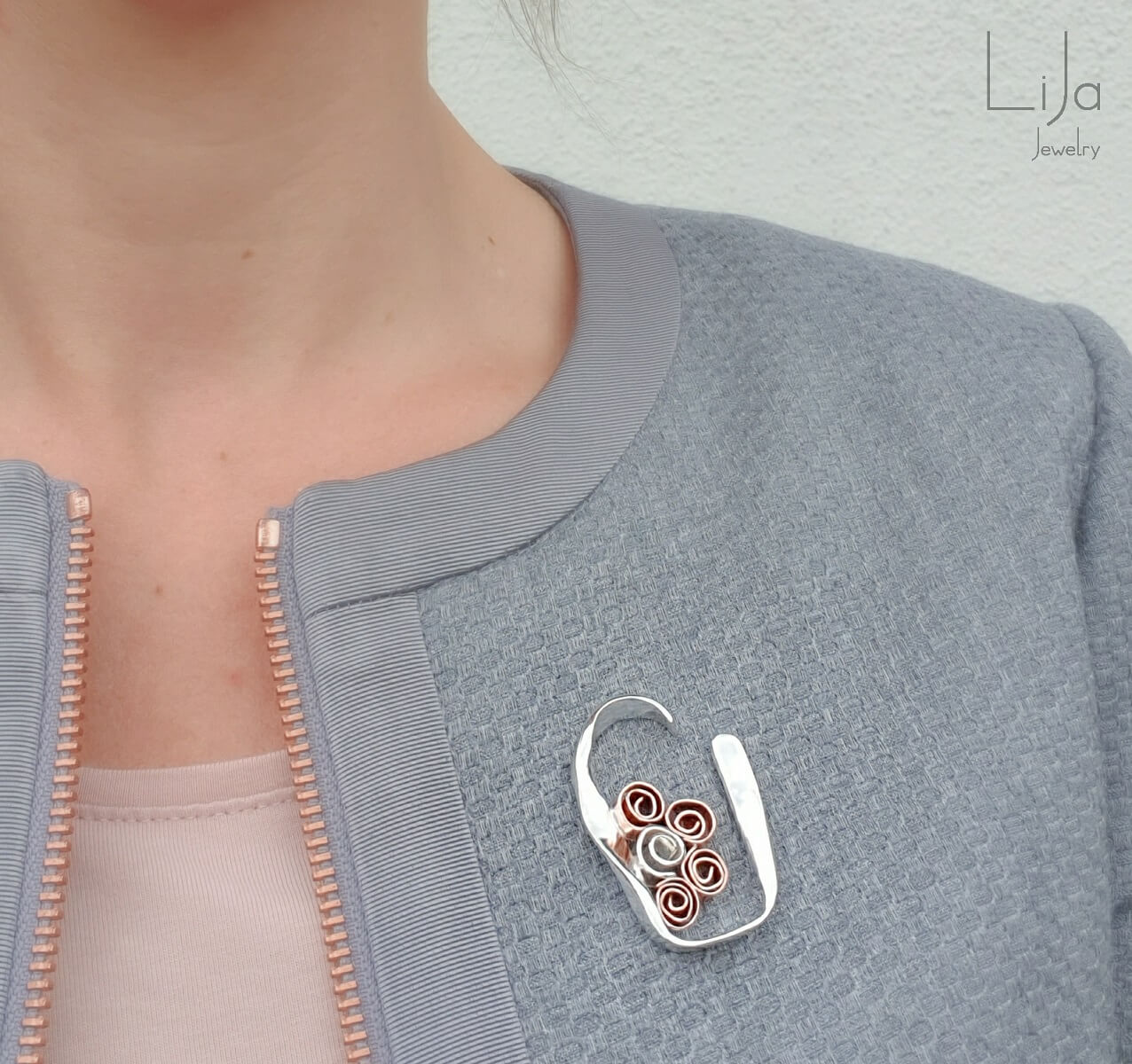 Goudsmid Lija Jewelry Broche Roosjes