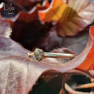 Goudsmid Lija Jewelry Geboortesteen Ring Saffier 14kt Goud