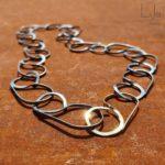 Goudsmid Lija Jewelry Modern Collier Geoxideerd Zilver Zwart Goud