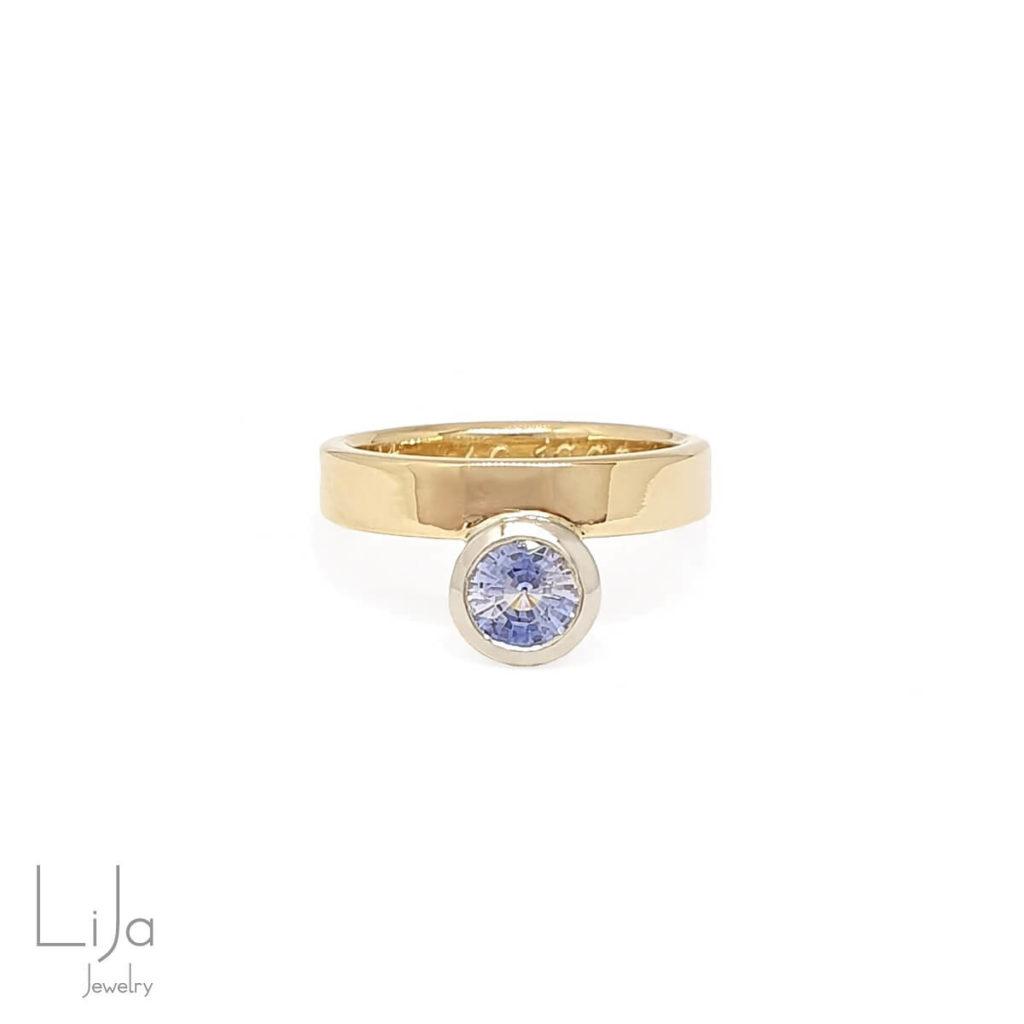 Lija Jewelry Goudsmid Oudgoud Omsmelten Saffier Huwelijk