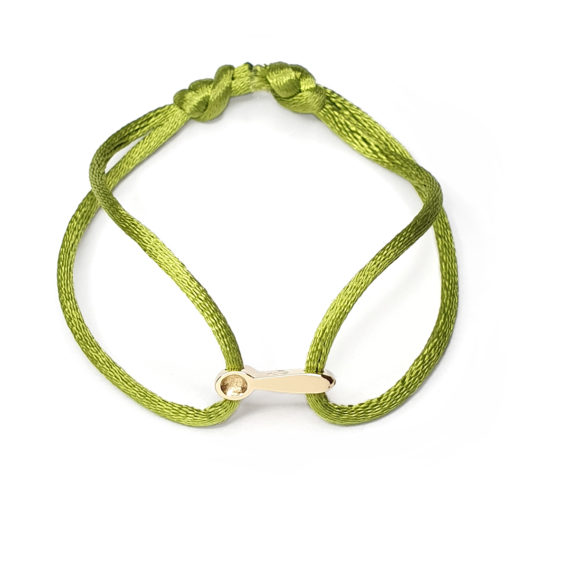 Goudsmid Lija Jewelry Collectie Armband Goud Bedel Lepel Ziek