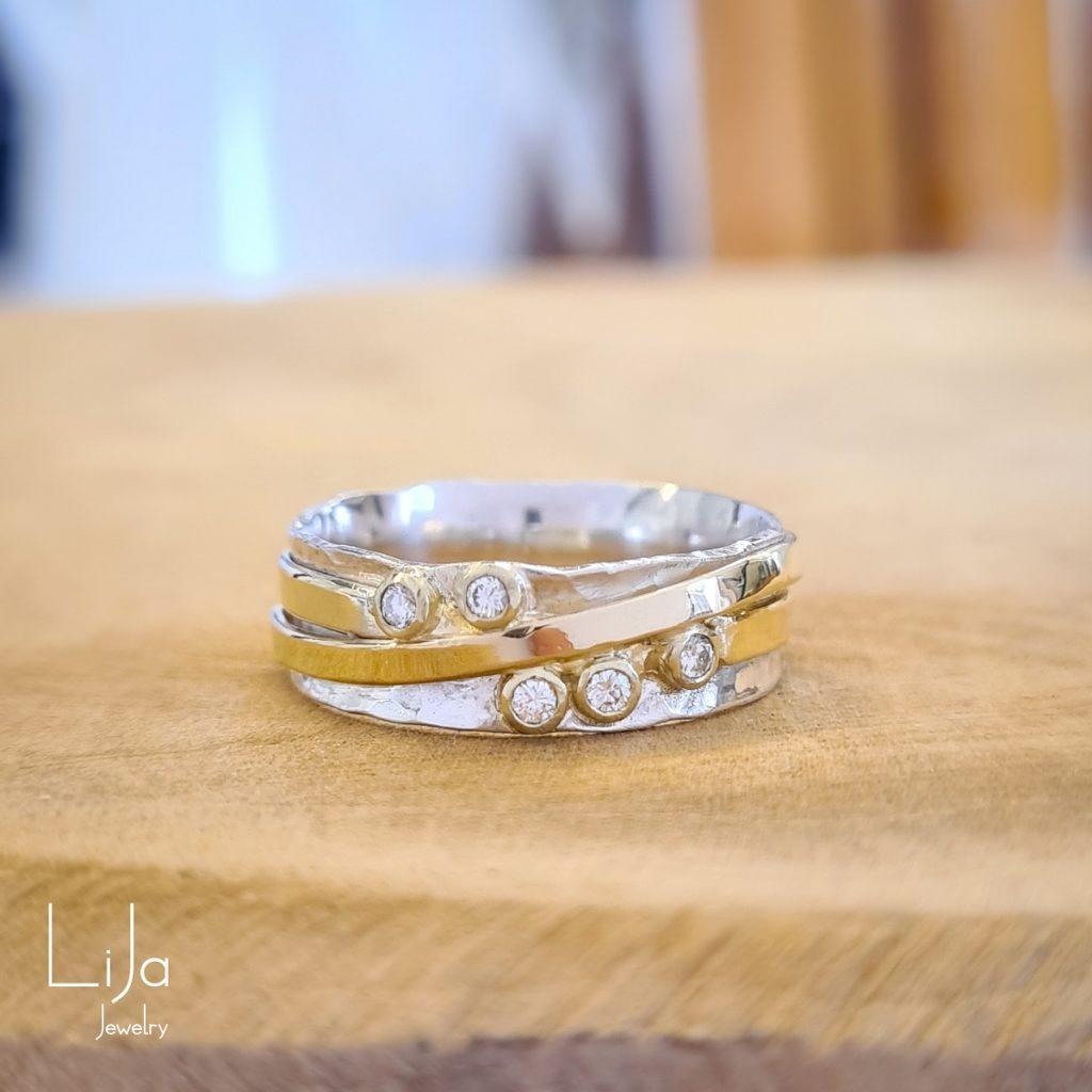 goudsmid lija jewelry embraced zilver goud diamant